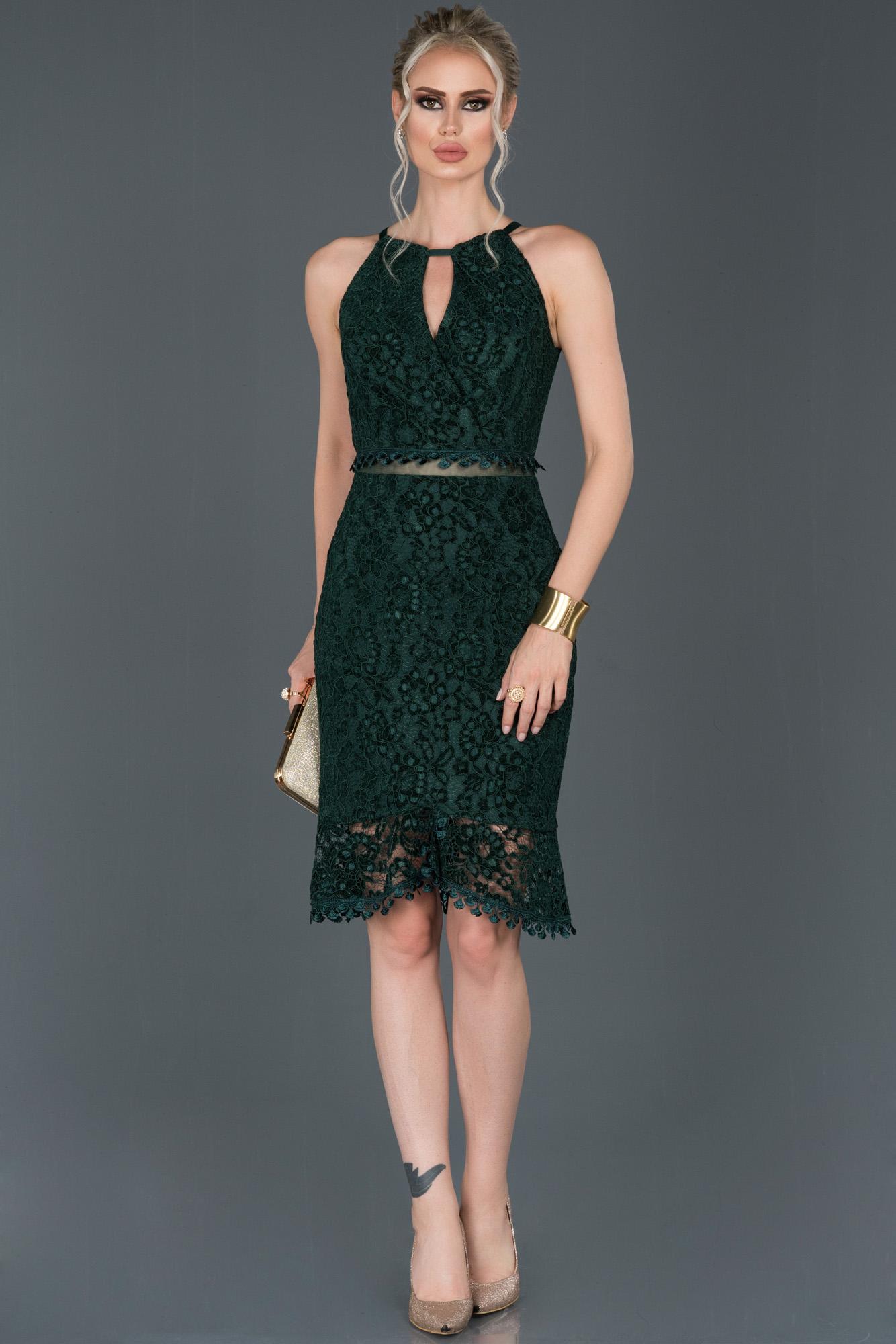 Short Emerald Green Velvet Invitation Dress Abk634 Abiyefon Com