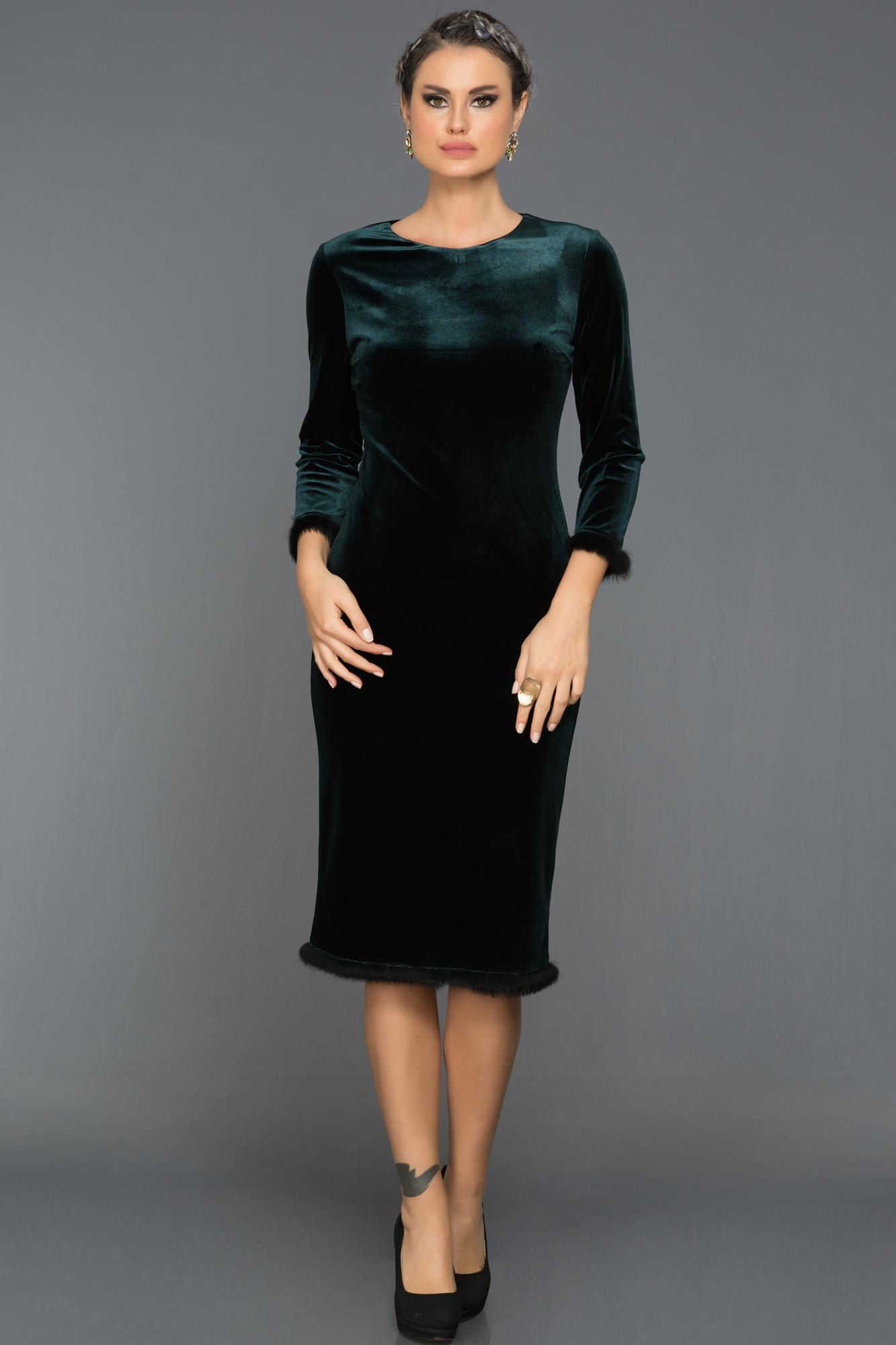 Short Emerald Green Velvet Evening Dress Ds433 Abiyefon Com