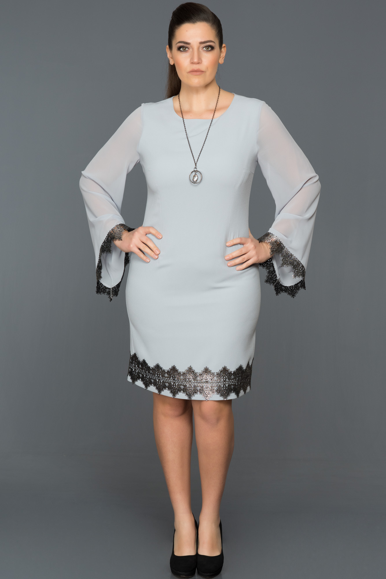 be4679f91a3 Grey Evening Dresses Plus Size