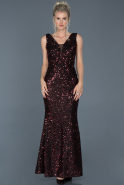 Long Black-Red Mermaid Prom Dress ABU882