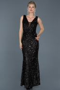 Long Black Mermaid Prom Dress ABU882
