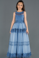 Long Indigo Girl Dress ABU1249
