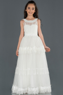 Long Cream Girl Dress ABU1249