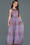 Long Lavender Girl Dress ABU1249