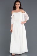 Long White Girl Dress ABU1233