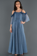 Long Indigo Girl Dress ABU1233