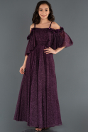 Long Dark Purple Girl Dress ABU1233
