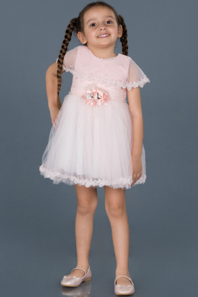 Short Powder Color Girl Dress ABK537