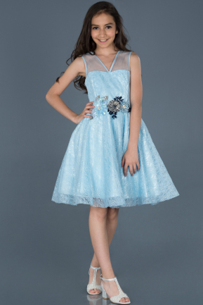 Short Blue Girl Dress ABK541