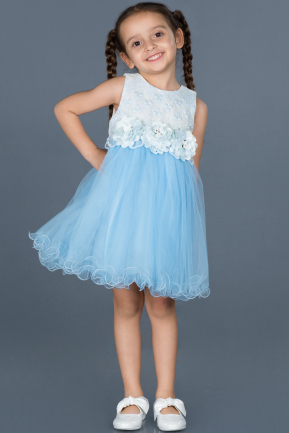 Short Blue Girl Dress ABK546