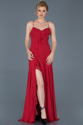 Long Red Prom Gown ABU804