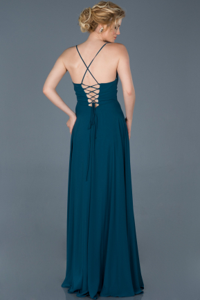Long Oil Blue Evening Dress ABU070