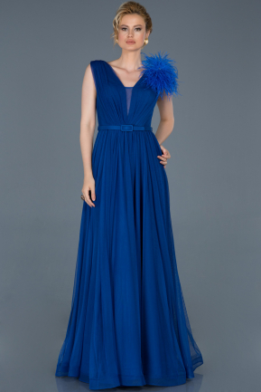 Long Sax Blue Evening Dress ABU823