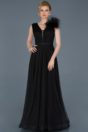 Long Black Evening Dress ABU823