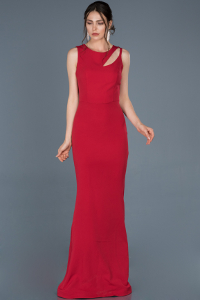 Long Red Mermaid Evening Dress ABU825