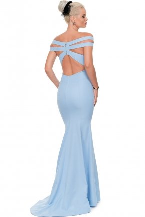 Long Blue Evening Dress E3197