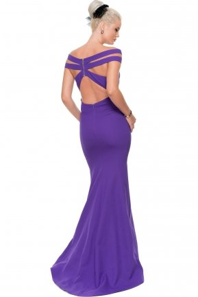 Long Purple Evening Dress E3197