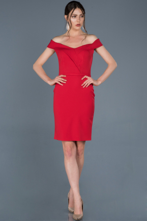 Short Red Prom Gown ABK501