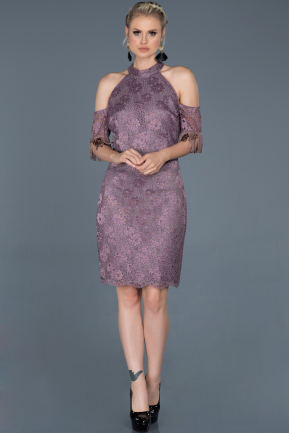 Short Lavender Prom Gown ABK632