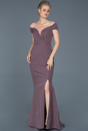 Long Lavender Evening Dress ABU870