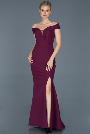 Long Plum Evening Dress ABU870