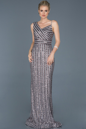 Long Anthracite Mermaid Evening Dress ABU858