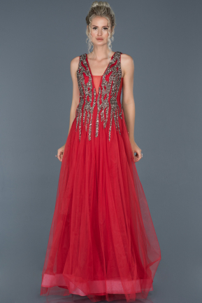 Long Red Evening Dress ABU1070