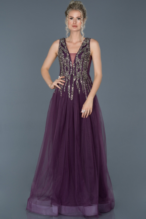 Long Purple Evening Dress ABU1070