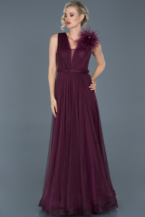 Long Plum Evening Dress ABU823