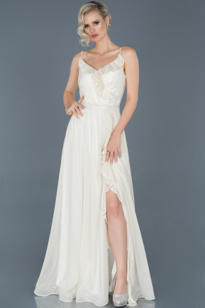 Long White Engagement Dress ABU888