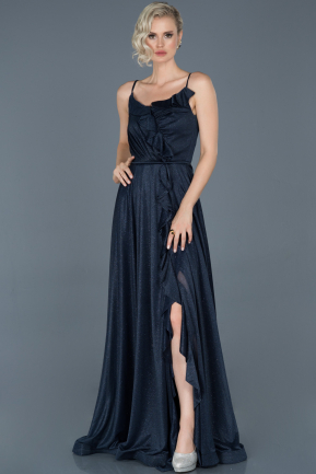 Long Navy Blue Engagement Dress ABU888