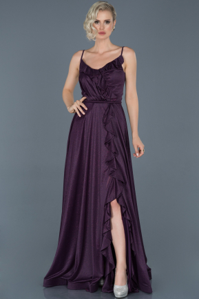Long Violet Engagement Dress ABU888