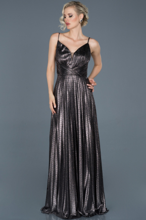 Long Anthracite Engagement Dress ABU889