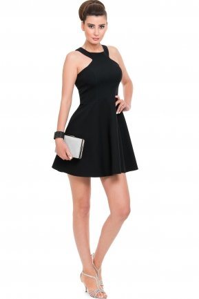 Short Black Evening Dress NA5152