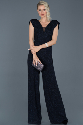 Long Navy Blue Evening Dress ABT044