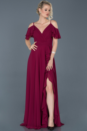 Long Plum Evening Dress ABU925