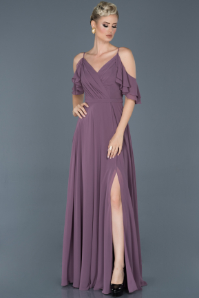 Lavender Long Prom Gown ABU675