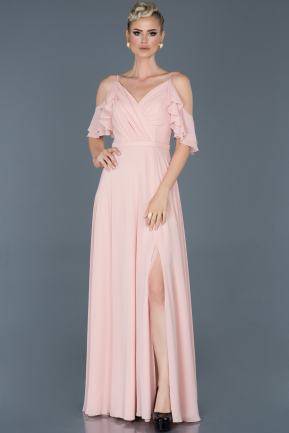 Powder Color Long Prom Gown ABU675