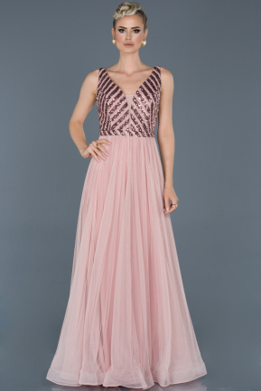 Long Powder Color Engagement Dress ABU934
