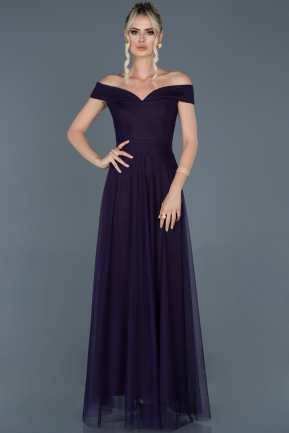 Dark Purple Long Evening Dress ABU020