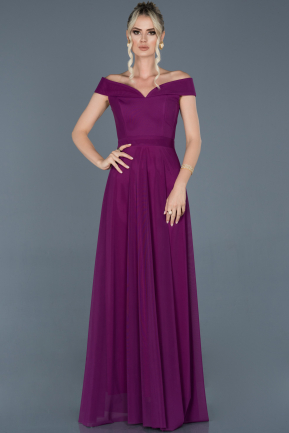 Plum Long Evening Dress ABU020