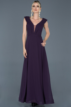 Dark Purple Long Engagement Dress ABU853