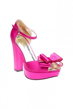 Fuchsia Satin Evening Shoes SM4360