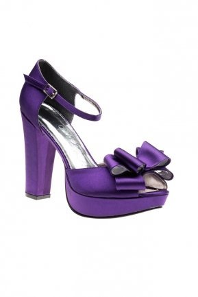 Purple Satin Evening Shoes SM4360