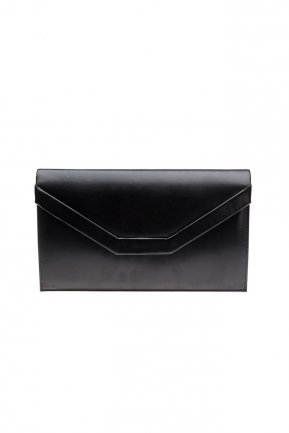 Black Leather Evening Bag V440