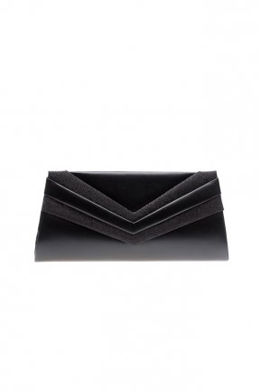 Black Leather Evening Bag V445