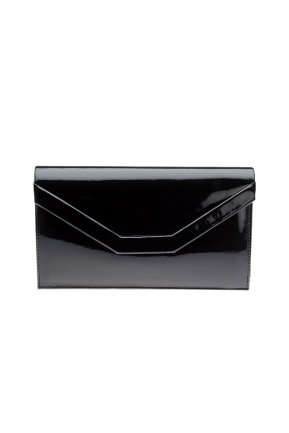 Black Patent Leather Evening Bag V440