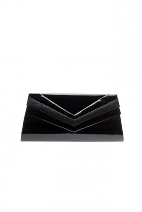 Black Patent Leather Evening Bag V445