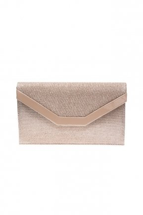 Mink Silvery Evening Bag V440
