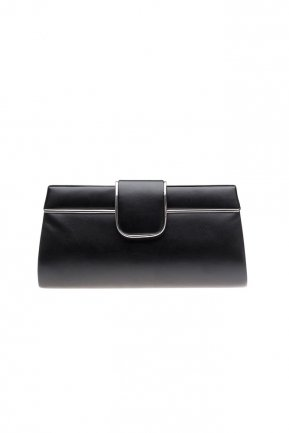 Black Leather Evening Bag V494